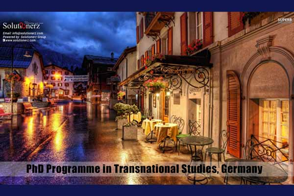 PhD Programme in Transnational Studies Germany – Solutionerz
